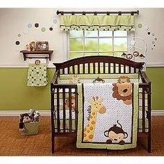 Little Bedding by NoJo -Jungle Pals 4pc Crib Set