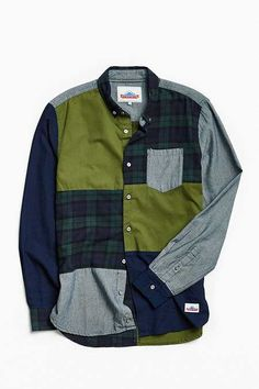 Shop Penfield Crowley Patchwork Button-Down Shirt at Urban Outfitters today. We carry all the latest styles, colors and brands for you to choose from right here. Denim Shirt, Jeans, Cute Baby Clothes, Diy Clothes, Aesthetic Shirts, Smart Casual Men, Fashion Logo Design, Comme Des Garcons, Plaid Flannel