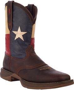 Durango Rebel Texas Flag Cowboy Boots - Square Toe