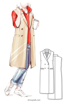 Sleeveless Vest Coat #5103 PDF Get this PDF printable sewing pattern for a women's sleeveless lined coat / blazer with the classic jacket collar and side welt pockets from Dressy Talk. ** The sewing pattern in all sizes and heights.   #SewingPattern #CoatSewingPattern