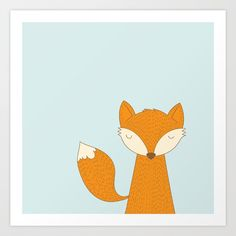 Buy Little Fox Art Print by paperboundlove. Worldwide shipping available at Society6.com. Just one of millions of high quality products available.