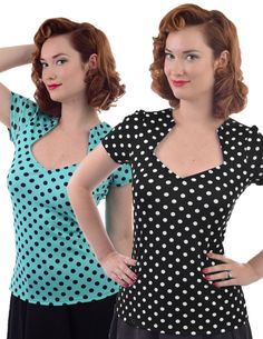Steady+Clothing+SOPHIA+POLKA+DOT+womens+top+pinup+retro+rockabilly+punk+#SteadyClothing+#KnitTop+#CareerCasualClubwearEvening
