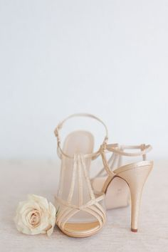 Champagne Shimmer Wedding Shoes | Rahel Menig Photography | http://heyweddinglady.com/wine-champagne-pairing-chic-wedding-palette/
