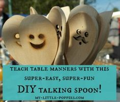 Teach your children table manners with this super-easy, super-fun DIY Talking Spoon!