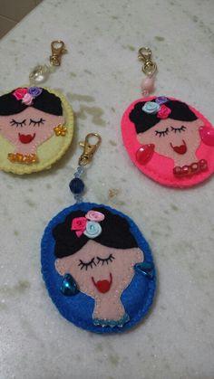 Meus chaveiros de Frida...