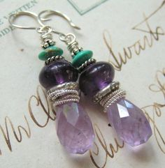Cape Amethyst, Grape Amethyst, Turquoise, Sterling