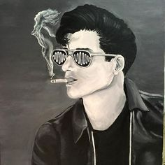 Alex Turner from the Arctic Monkeys for Gage (concept idea for the girl in the smoke is not mine, reference photo used was from Mehmet Ozgur) . Alex Turner, Arctic Monkeys, The Smoke, Drawing Ideas, Concept, Drawings, Instagram Posts, Artist, Movie Posters