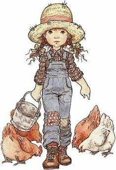Sarah Kay - Illustration - Reminds me my childhood. Sarah Key, Holly Hobbie, Vintage Pictures, Cute Pictures, Illustrations, Illustration Art, Cute Drawings, Cute Art, Cute Kids
