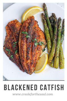 Creole Recipes, Cajun Recipes, Blackened Catfish, Catfish Recipes, Vegetable Prep, One Skillet Meals, Creole Seasoning, Tandoori Chicken, Healthy Eating