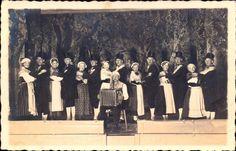 Tracht der Wilstermarsch 1925 - Trachtengruppe auf der Bühne SF #Wilstermarsch