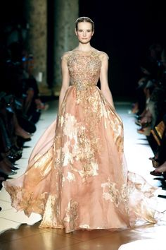 peach x gold dress :: Fall 2012 collection by Elie Saab