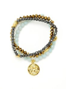 Set Of 3 Lucky Stretch Bracelets by Good Charma up to 60% off at Gilt