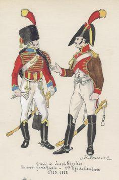 Regimiento de Húsares de la Guardia Real y 1º Regimiento Caballería de Línea