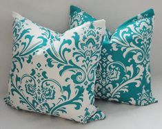 teal and red throw pillows - Google Search