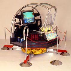 """Galaxy Force II"" by SEGA (1988) : 体感ゲーム第6段、「ギャラクシーフォース」のスーパーデラックス筐体。"