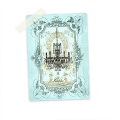 Chandelier Shabby Chic Art Print ACEO Giclee by CafeBaudelaire, $5,00