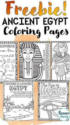 Ancient Egypt Free Coloring Pages These coloring pages are perfect for teachers who are teaching Ancient Civilizations or Ancient Egypt. They contain educational information and facts so students can learn all about Egypt while they color in the pages! Contains the following pages: Tutankhamun, Upper and Lower Egypt, Hieroglyphics Alphabet, The Eye of Horus, Pyramids, Nefertiti, Mummification, Thutmose III, Ramses II, Aligned with Ancient Civilizations Complete Curriculum Teacher Freebies, Teacher Blogs, Ancient Mesopotamia, Ancient Civilizations, Ancient Egypt For Kids, Ancient Greece, Free Doodles, My Favourite Teacher, 6th Grade Social Studies