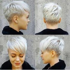 pixie schnitt rundes gesicht - All For New Hairstyles New Short Haircuts, Popular Short Hairstyles, Pixie Hairstyles, Bob Haircuts, Hairstyles 2018, Asymmetrical Hairstyles, Asymmetrical Pixie, Shaved Hairstyles, 2018 Haircuts