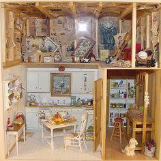 Kitchen / Attic Scene 1:12 Scale Miniature | Flickr - Photo Sharing!