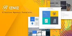 Bizniz – Creative Agency HTML Template is a responsive, clean and modern designed Corporate business template . Bizniz is suitable for all creative people, agency, creative business, company, indiv...