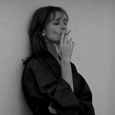Isabelle Huppert, Beautiful People, Black And White, Smoking, Crushes, Girls, Fashion, Photos, Portraits