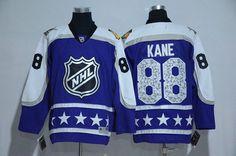 ec7a25050 Blackhawks 88 Patrick Kane Purple Central Division 2017 NHL All-Star Game  Premier Jersey