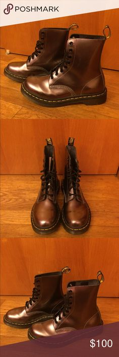 Dr. Martens Pascal Boots LIMITED EDITION Dr. Martens Pascal Boots Color: Bronze  Size: US 7  Like New  Very good condition Dr. Martens Shoes Lace Up Boots