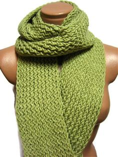 Knitted infinity Scarfpistachio green by specialhandmades4you, $40.00