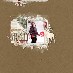 awesome #winter #scrapbook page from Kayleigh at DesignerDigitals.com