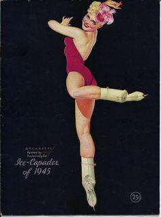 §§§ : Ice-Capades Program : George Petty : 1945