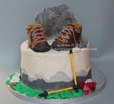 Le Delizie di Ve: Mountain cake Birthday Cakes For Men, Cakes For Boys, Birthday Ideas, 7 Cake, Cupcake Cakes, Camping Theme Cakes, Cake Design For Men, Mountain Cake, Woodland Cake