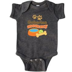 Inktastic Goberian Mommy Infant Creeper Baby Bodysuit Pet Mom Pets Dog Doggy Lover Breed Dogs Animal Gift One-piece Hws, Infant Boy's, Size: 6 Months, Black