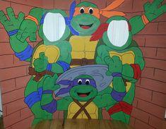 Teenage Mutant Ninja Turtles Hand Drawn and Painted Photo Op Display / Cutout Board! on Etsy, $50.00