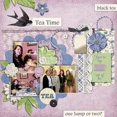 Afternoon Tea by Schmooangel Designs  Part of the Feb. 2016 Scrap Pack at www.scrapstacks.com