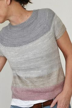 Free Knitting Pattern for Spring Christmas Knitting Patterns, Sweater Knitting Patterns, Loom Knitting, Knit Patterns, Free Knitting, Knitting Needles, Knooking, Summer Knitting, Knitting For Beginners