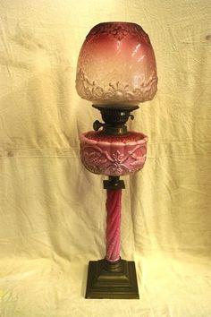 Early Kerosene L& - Transitional Period - Heavy Cut Flint Glass | Antique Oil L&s | Pinterest | Kerosene l& Oil l&s and Wall light fixtures & Early Kerosene Lamp - Transitional Period - Heavy Cut Flint Glass ...