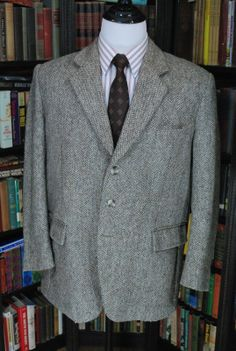 """Another fabulous Harris Tweed. 45"""" chest on this one, in a classic barley twist."""
