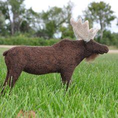 Moose needle felt
