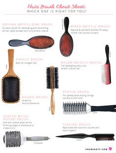 Hair Brush Cheat Sheet: Which One Is Right for You?