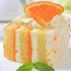 This orange layer cake recipe is so refreshing.