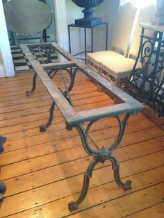 10 Wrought Iron Wood Table Ideas Wood Table Table Wrought Iron