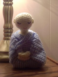 A Little Nun in Meditation by Melbangel jizo monk crochet knit buddha amigurumi