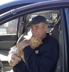 (X-post from r/cats with personal info removed) This 75 year old man in Connecticut spends 3 hours every night feeding hungry cats in addition to humanely trapping and spay/neutering them. This is done with money he gets from collecting scrap metal all day. He has a heart of gold! http://ift.tt/2kVSSVe