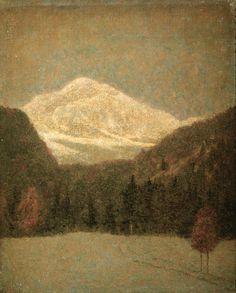 Grubicy de Dragon Vittore - Neve in agosto a Schilpario - 1887 circa - Paesaggi e vedute - Accademia Carrara di Bergamo Pinacoteca