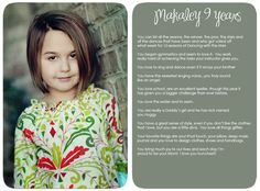 Awesome photographer in NC...and cool idea to document your children!