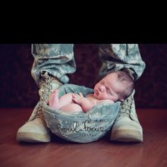 So cute....I tried to get my kids to let me do this when their daughter was born!