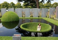 Grass, rounded, in unusual ways- Art in the landscape.