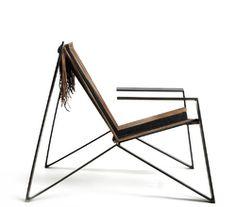 materials: gunmetal steel + latigo lace + hemp cordhandmade in the usa by dominique houriet
