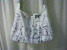Vintage 1970s Style Shoulder Bag Repurposed Fabric by RustIsVogue, $40.00