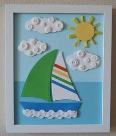 Seasons craft/water transport/boat craft for kids Sea Crafts, Diy And Crafts, Arts And Crafts, Paper Crafts, Summer Crafts For Kids, Diy For Kids, Unicorn Diy, Welcome To Kindergarten, School Decorations